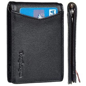 NIB Men's Genuine Leather Slim Bifold Wallet